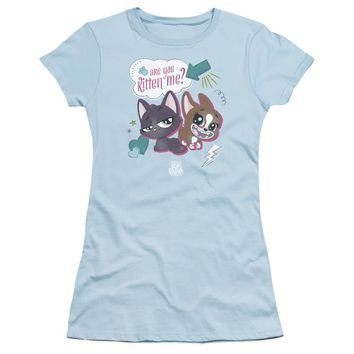 Littlest Pet Shop Juniors T-Shirt Are You Kitten Me Light Blue Tee