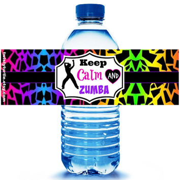 Zumba Party Water Bottle Label 5ct - Party Supplies - Zumba Party Favors - Zumba - Zumba Dance Party- Zumba Kids - FREE Personalization