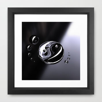 Ying Yang Framed Art Print by SensualPatterns