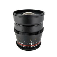 Rokinon 24mm T1.5 f/1.4 Wide-Angle Cine Lens with Declicked Aperture for Canon, Lens Cleaning Kit and 77mm UV Filter