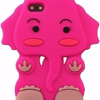 iphone 5 Popular Cute Hot Pink Lovely3D Hello Cartoon Elephant Silicone Soft Case USA SELLER