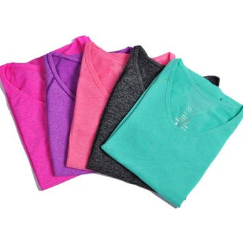 5 Colors Summer Sexy Women Tank Tops Dry Quick compression Gym tees Fitness Sport T-shirt for Running Training
