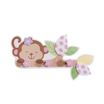 "Babies""R""Us Wooden Baby Girl Monkey Wall Decor"