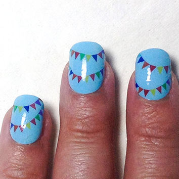 Bunting Flag Nail Decals