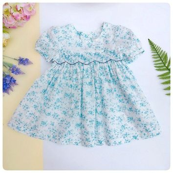 Sweet English Liberty Smocked Dress