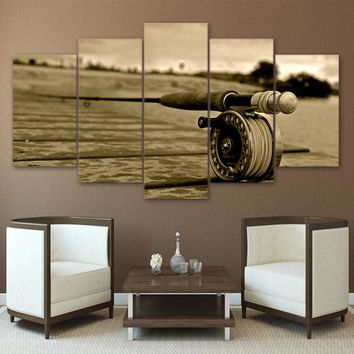 The Fishing Life 5PC Canvas