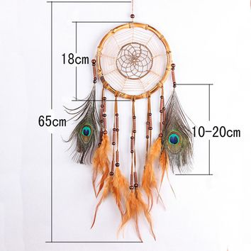DreamCatcher Dream Catcher Circular White Feathers Wall Hanging Decoration Decor Craft