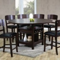 Espresso Dining Set | Conner Five Piece Counter Height Dinette