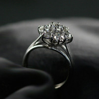 Vintage Diamond Cluster Engagement Ring by Ruby Gray's | Ruby Gray's