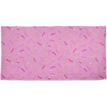 PEAPGQ9 Pastel Strawberry Sprinkles All Over Bath Towel