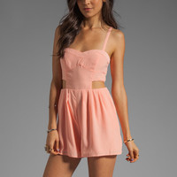 BB Dakota Davison Cut Out Romper in Grapefruit from REVOLVEclothing.com