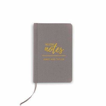 Charcoal Linen Pocket Journal - Wedding Notes Emboss (Pack of 1)