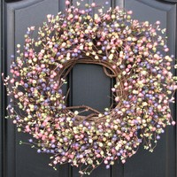 Easter Berry Wreath by twoinspireyou on Etsy