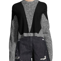 Public School Sana Long-Sleeve Pullover Sweater, Gray