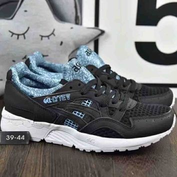 Asics Gel-Lyte Pig Hosiery Vintage Retro Stitching Running Shoes F-A36H-MY Black/blue