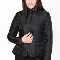Black Solids Winter Jacket