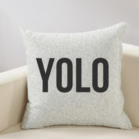 YOLO Inspirational Pillow Cover
