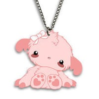 Little FIFI Tomo's yeti Fifi Kawaii Necklace Charm by TomoLtd