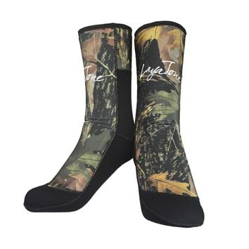 Rubber Neoprene 7mm Diving Socks for Spearfishing Fishing Underwater Hunting Camouflage Diving Shose Wetsuit Accessories F1601MC
