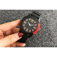ADIDAS Women Men Fashion Simple Movement Wristwatch Watch Red I-Fushida-8899