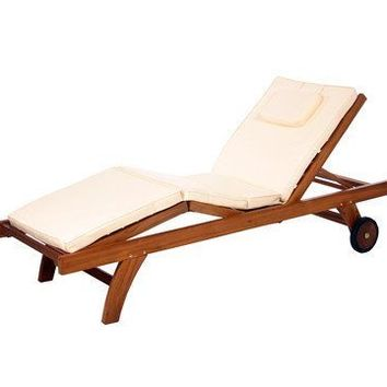 Teak Chaise Lounge Cushion