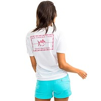 Women's Original Skipjack T-Shirt in Classic White by Southern Tide - FINAL SALE