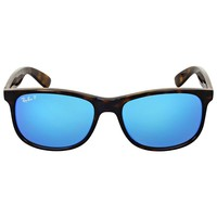 Cheap Ray-Ban Andy Tortoise Frame Polarized Blue Flash 55mm Lens RB4202 710/9R NEW outlet