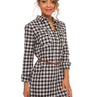 Rhea Plaid Dress