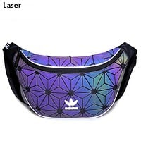 ADIDAS tide brand female models simple fashion rhombic bag wild small backpack laser