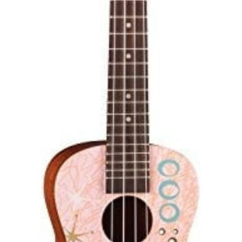 Luna UKE PINK MARTINI Ukulele Concert with Bag