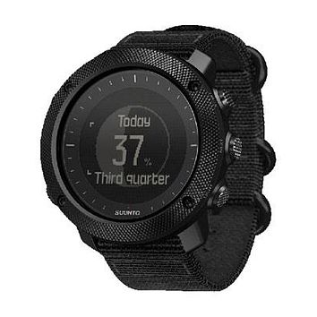 Suunto Traverse Alpha Stealth Hunting / Fishing Watch - Black Fabric Strap