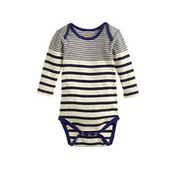 Baby Long-Sleeve One-Piece In Multistripe - crewcuts