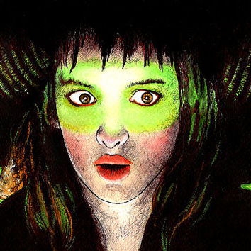"Print 11x17"" - Lydia Deetz - Beetlejuice Winona Ryder Teenager Tim Burton Goth Gothic Angry Vintage Pop Art Dark Horror Cute Fantasy Surreal"