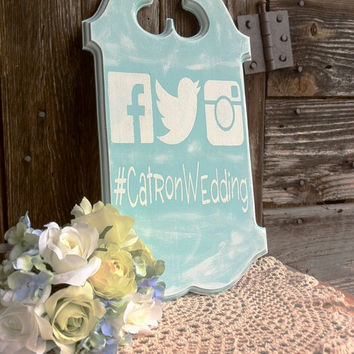 Wedding Hashtag Sign Facebook Hashtag Sign Twitter Hashtag Sign Instagram Hashtag Bridal Shower Sign Wedding Photo Sign Baby Shower Sign