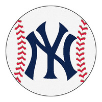 New York Yankees MLB Baseball Round Floor Mat (29)