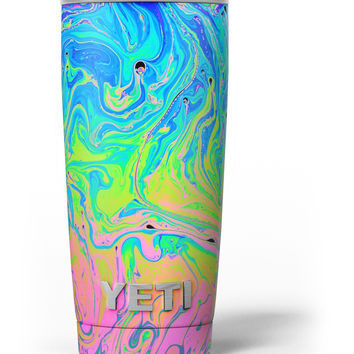 Neon Color Swirls Yeti Rambler Skin Kit