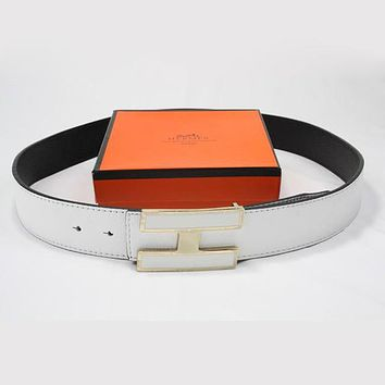 Hermes Woman Fashion Smooth Buckle Belt Leather Belt