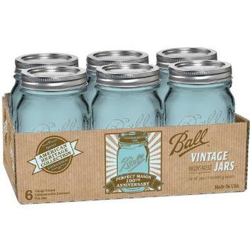 Ball Jar Heritage Collection Pint Jars with Lids and Bands, Set of 6:Amazon:Kitchen & Dining