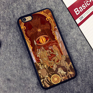 Lord of the Rings stained glass Printed Soft TPU Mobile Phone Cases For iPhone 6 6S Plus 7 7 Plus 5 5S 5C SE 4S Capa funda coque