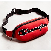 Champion New fashion embroidery letter shoulder bag waist bag Red