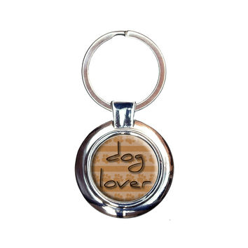Dog Lover Paws for Affection Keychain