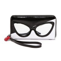 alice + olivia Stacey Face Long Wristlet