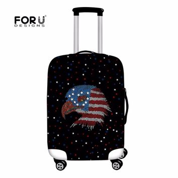 FORUDESIGNS US Flag Case Cover Luggage for Trunk Trolley Cool USA Eagle Covers Protective Suitcase Covers Travel Accessories New
