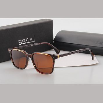 BOCAI Brand Polarized Sunglasses Oliver peoples Style OV5316SU OPLL SUN vintage For men women Polarizing sun glasses Driving