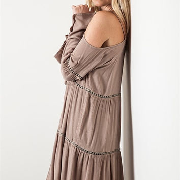Off Shoulder Dress - Mocha