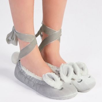 Oysho velvet rabbit bandage Home Furnishing shoes-1