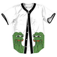 """  Pepe The Frog "" 3D BASEBALL JERSEY"