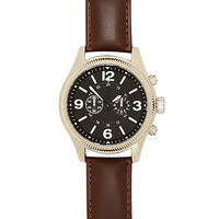 River Island MensBrown classic etched face watch
