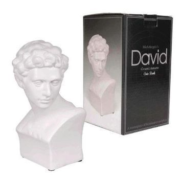 Michelangelo's David Ceramic Statuette Coin Bank (Available in a pack of 6)