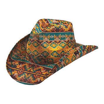 NEW PETER GRIMM AZTEC MULTI-COLORED WESTERN COWBOY HAT